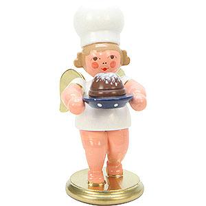 Weihnachtsengel Bäckerengel (Ulbricht) Bäckerengel mit Napfkuchen - 7,5 cm