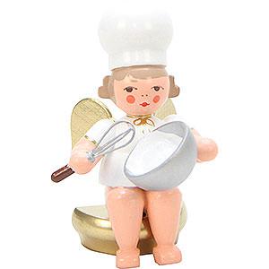 Weihnachtsengel Bäckerengel (Ulbricht) Bäckerengel mit Schneebesen - 7 cm