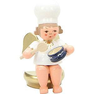 Weihnachtsengel Bäckerengel (Ulbricht) Bäckerengel sitzend mit Rührlöffel - 7,5 cm