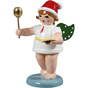 Angels Baker Angels (Ellmann) Baker Angel with Hat, Spoon and Cook Book - 6,5 cm / 2.5 inch
