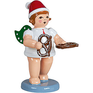 Angels Baker Angels (Ellmann) Baker Angel with Hat and Pretzl - 6,5 cm / 2.5 inch