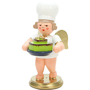 Angels Baker Angels (Ulbricht) Baker Angel with Heart Shaped Cake - 7,5 cm / 3 inch