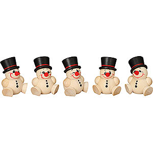 Small Figures & Ornaments Ball figures (Seiffener Vk.) Ball Figures Cool Man - 5 pcs. - 4 cm / 2 inch