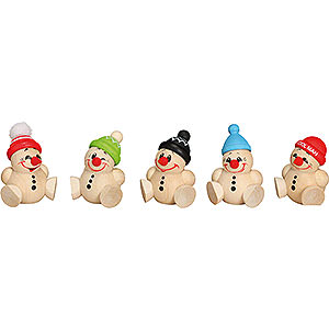 Small Figures & Ornaments Ball figures (Seiffener Vk.) Ball Figures Cool Man Junior - 5 pcs. - 4 cm / 2 inch