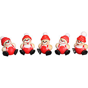 Small Figures & Ornaments Ball figures (Seiffener Vk.) Ball Figures Santa Claus - 5-tlg. - 4 cm / 1.6 inch