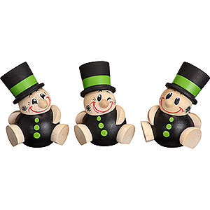 Small Figures & Ornaments Ball figures (Seiffener Vk.) Ball Figures Schorchy - 3 Pcs- 6 cm / 2 inch