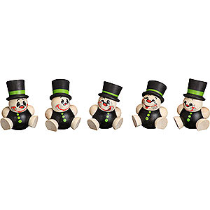 Small Figures & Ornaments Ball figures (Seiffener Vk.) Ball Figures Schorchy - 5 pcs. - 4 cm / 2 inch