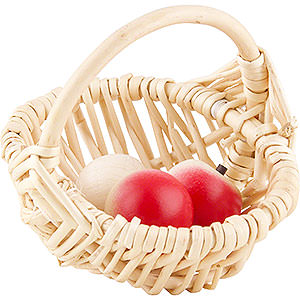 Small Figures & Ornaments Näumanns Wicht Basket with 3 Apples - 8 cm / 3 inch