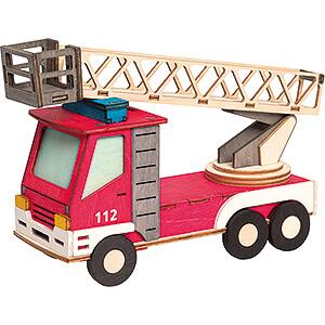 Räuchermänner Sonstige Figuren Bastelset Rauchhaus Feuerwehrauto - 15 cm