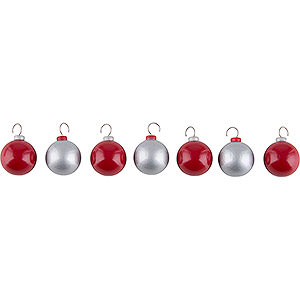 Small Figures & Ornaments Näumanns Wicht Baubles - Red and Silver - 2 cm / 1 inch