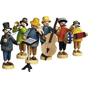 Kleine Figuren & Miniaturen Günter Reichel Figuren vom Lande Bauernkapelle 7-teilig - 7 cm