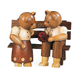 Small Figures & Ornaments Animals Bears Bear Couple Sitting - 10 cm / 4 inch