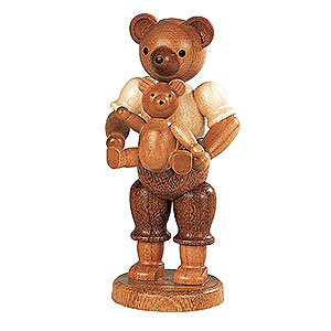 Small Figures & Ornaments Animals Bears Bear Father with Child - 10 cm / 4 inch