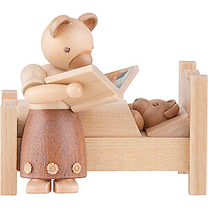Small Figures & Ornaments Animals Bears Bear Mom Tells Good Night Stories - 9 cm / 3.5 inch