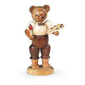 Small Figures & Ornaments Animals Bears Bear Painter - 10 cm / 4 inch