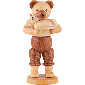 Small Figures & Ornaments Animals Bears Bear with Cat - 10 cm / 4 inch
