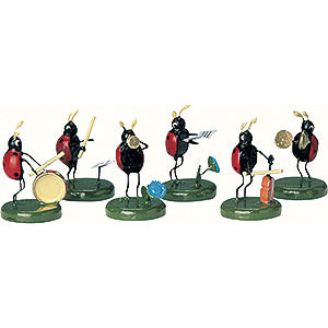 Small Figures & Ornaments Animals Beetles Beetle Band - 6 pcs. - 3 cm / 1 inch
