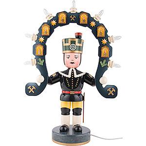 Weihnachtsengel Engel und Bergmann Bergmann elektrisch beleuchtet - 53 cm