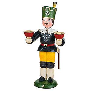 Weihnachtsengel Engel und Bergmann Bergmann mit Kerzen - 22 cm