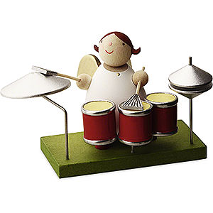 Angels Reichel Big Band Big Band Guardian Angel with Drums - 3,5 cm / 1.3 inch