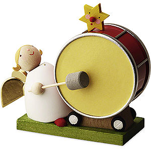 Angels Reichel Big Band Big Band Guardian Angel with Large Drum - 3,5 cm / 1.3 inch