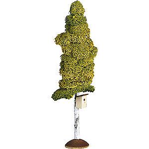 Weihnachtsengel Günter Reichel Dekoration Birke mit Nistkasten - 20 cm