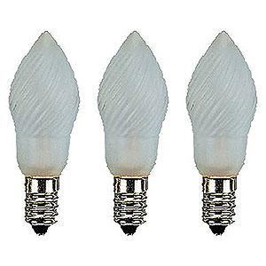Lichterwelt Ersatzlampen Birnenlampe gefrostet - Sockel E14 - 12V/3W