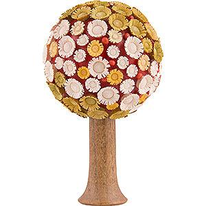 Weihnachtsengel Flade Flachshaarengel Blütenbaum bunt, H - 7,5x4,5 cm