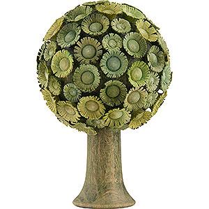 Weihnachtsengel Flade Flachshaarengel Blütenbaum grün - 6x4 cm