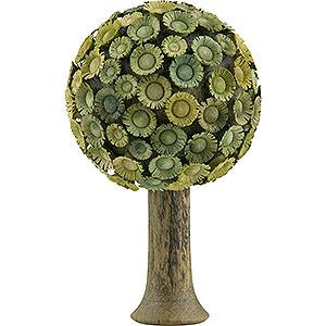 Weihnachtsengel Flade Flachshaarengel Blütenbaum grün - 7,5x4,5 cm