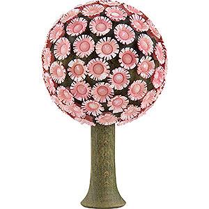 Weihnachtsengel Flade Flachshaarengel Blütenbaum rosé - 8,5x5 cm