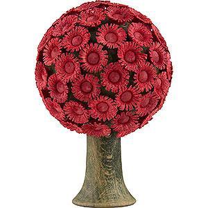 Weihnachtsengel Flade Flachshaarengel Blütenbaum rot - 6x4 cm