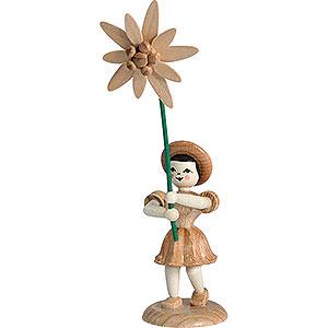 Kleine Figuren & Miniaturen Blumenkinder Blumenkind Edelweiss, natur - 12 cm