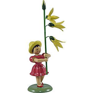 Kleine Figuren & Miniaturen Blumenkinder Blumenkind Forsythie, farbig - 12 cm