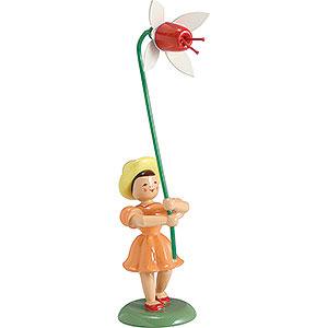 Kleine Figuren & Miniaturen Blumenkinder Blumenkind Fuchsie, farbig - 12 cm