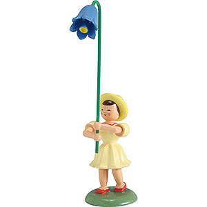 Kleine Figuren & Miniaturen Blumenkinder Blumenkind Glockenblume, farbig - 12 cm