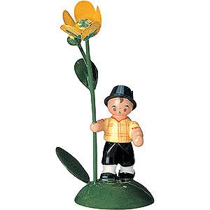 Kleine Figuren & Miniaturen Blumenkinder Blumenkind Junge - 6 cm