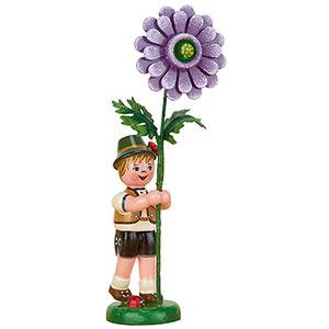 Kleine Figuren & Miniaturen Hubrig Blumenkinder Blumenkind Junge mit Dahlie - 11 cm