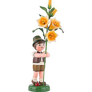 Kleine Figuren & Miniaturen Hubrig Blumenkinder Blumenkind Junge mit Lilie - 24 cm