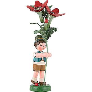 Kleine Figuren & Miniaturen Hubrig Blumenkinder Blumenkind Junge mit Tabak - 24 cm