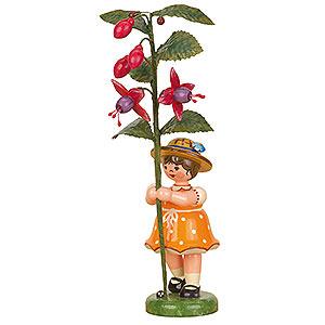 Kleine Figuren & Miniaturen Hubrig Blumenkinder Blumenkind Mädchen Fuchsie - 17 cm