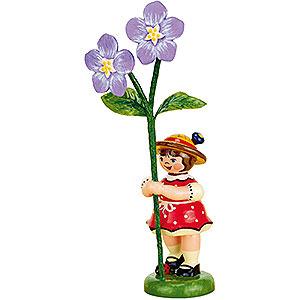 Kleine Figuren & Miniaturen Hubrig Blumenkinder Blumenkind Mädchen mit Flachs - 11 cm