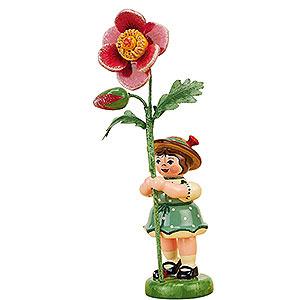 Kleine Figuren & Miniaturen Hubrig Blumenkinder Blumenkind Mädchen mit Heckenrose - 11 cm