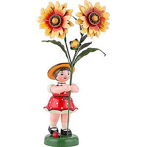 Kleine Figuren & Miniaturen Hubrig Blumenkinder Blumenkind Mädchen mit Kokardenblume - 24 cm