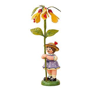 Kleine Figuren & Miniaturen Hubrig Blumenkinder Blumenkind Mädchen mit Schönmalve - 11 cm