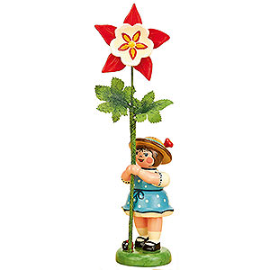 Kleine Figuren & Miniaturen Hubrig Blumenkinder Blumenkind Mädchen mit Akelei - 11 cm