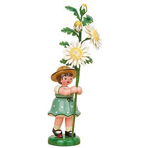Kleine Figuren & Miniaturen Hubrig Blumenkinder Blumenkind Mädchen mit Edelweißmargerite - 17 cm