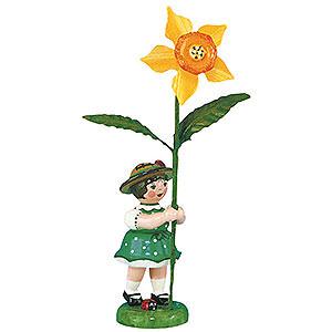 Kleine Figuren & Miniaturen Hubrig Blumenkinder Blumenkind Mädchen mit Narzisse 2. Auflage - 11 cm