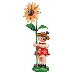 Kleine Figuren & Miniaturen Hubrig Blumenkinder Blumenkind Mädchen mit Sonnenhut - 11 cm