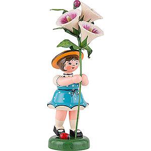 Kleine Figuren & Miniaturen Hubrig Blumenkinder Blumenkind Mädchen mit Stockrose - 24 cm